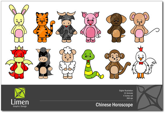 Chinese Dragon clipart chinese zodiac – Astrology Clip Birthdays Art