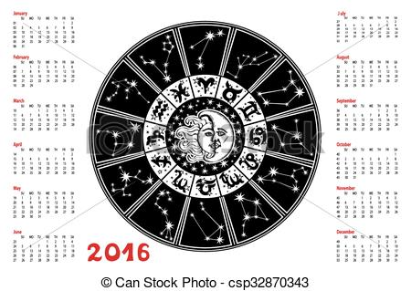 Zodiac clipart calendar Horoscope Constellation sign  Horoscope