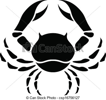 Zodiac clipart cancer Of Illustration Star  Black