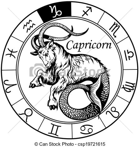 Zodiac clipart capricorn 690 black Clipart Capricorn astrological