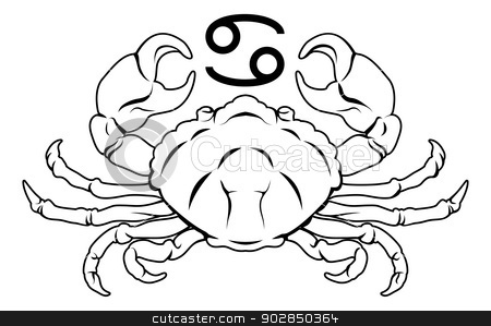Zodiac clipart crab Zodiac vector horoscope astrology Cancer