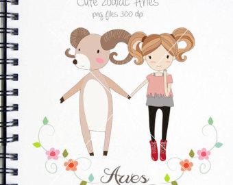 Zodiac clipart cute Instant Etsy Cute zodiac Aries