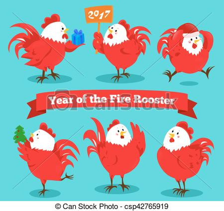 Zodiac clipart fire Rooster China of chinese for