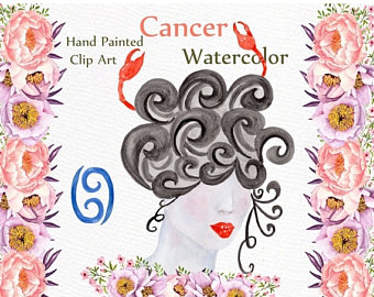 Zodiac clipart horiscope Clipart: 30% Watercolor ON SALE
