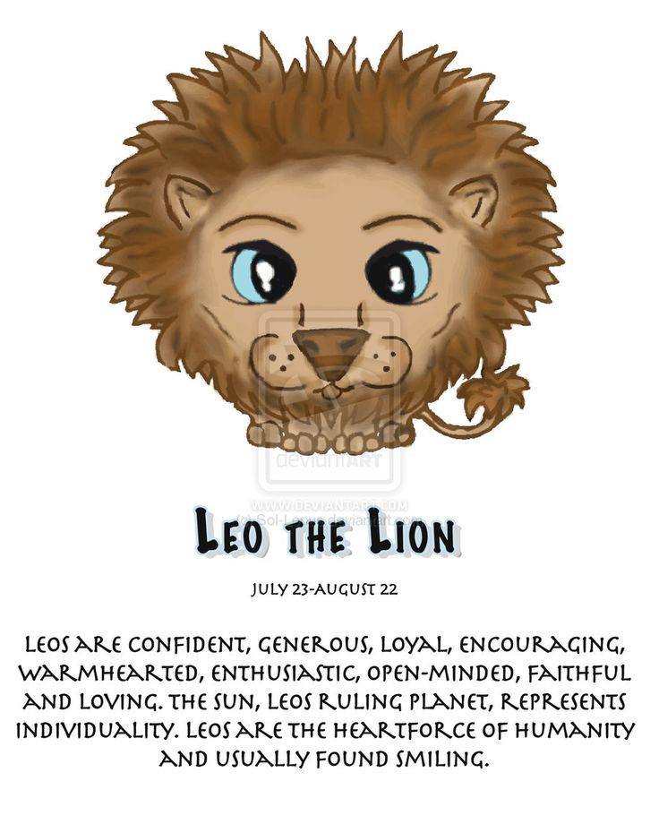 Zodiac clipart leo the lion LEO LEO on Find (THE
