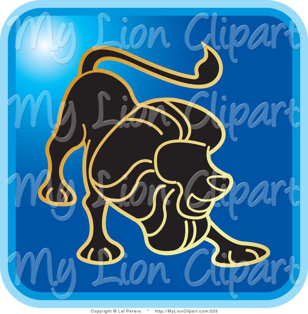 Zodiac clipart leo the lion Leo Blue Stock the Lion