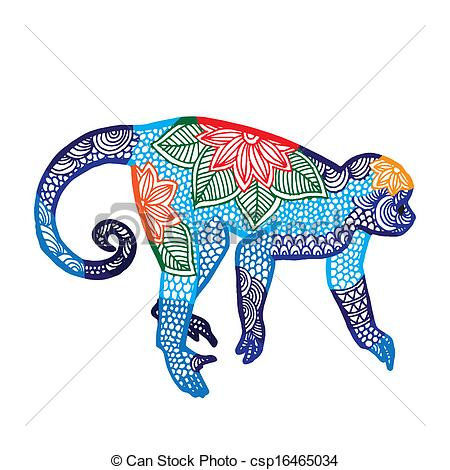 Zodiac clipart monkey Csp16465034 Blue Chinese illustration zodiac