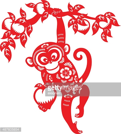 Zodiac clipart monkey Traditional Vector Year Chinese papercut