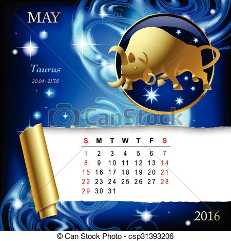 Zodiac clipart month Illustration space sign with month