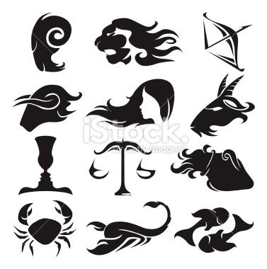 Zodiac clipart silhouette Art Illustration Free set Stock