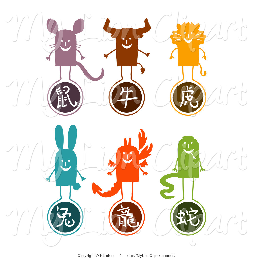 Astrology clipart animal Of Lion Ox Collage Rat