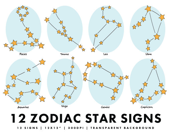 Zodiac clipart star sign Horoscope Star Art Stars Signs