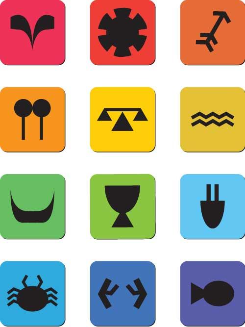 Zodiac clipart their color  clickwowdesigns Icon Zodiac Wheel