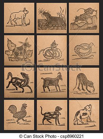 Zodiac clipart vintage Paper 12 Clipart of of