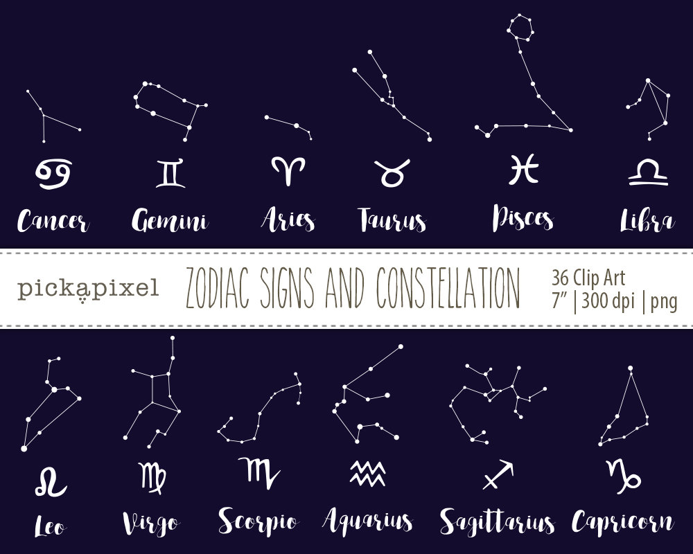 Zodiac clipart crab Signs Clip Black  a