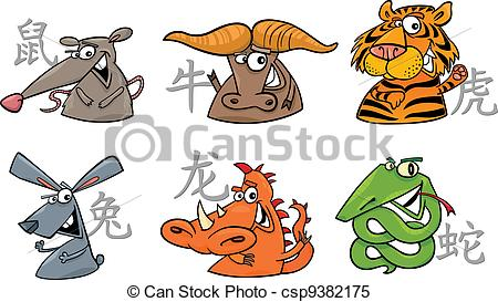 Zodiac clipart zodiac sign Cartoon clipart signs Vector Clipart