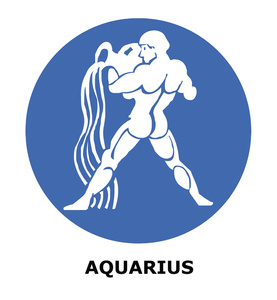 Astrology clipart logo Water  Water The Aquarius