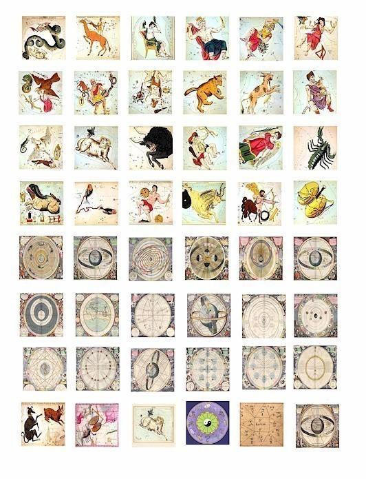 Zodiac clipart vintage Sign collage 1 DigitalGraphicsShop whats