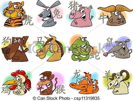 Zodiac Sign clipart cartoon Of Vectors of cartoon