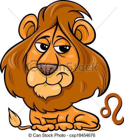 Zodiac Sign clipart cartoon Lion zodiac sign Illustration zodiac