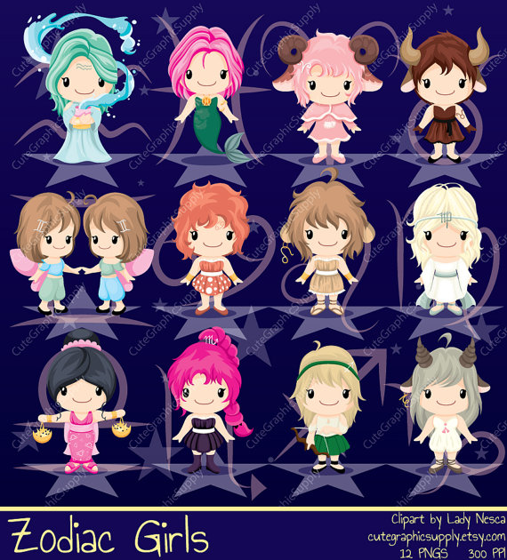 Zodiac clipart calendar Zodiac cute zodiac clipart sign