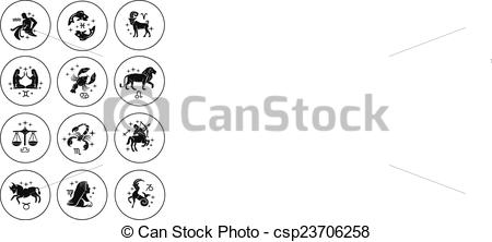 Zodiac Sign clipart icon Of Clipart set vector signs