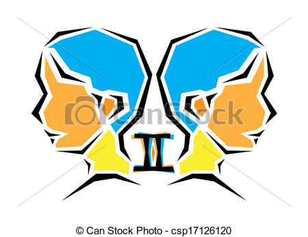 Zodiac Sign clipart twins #1