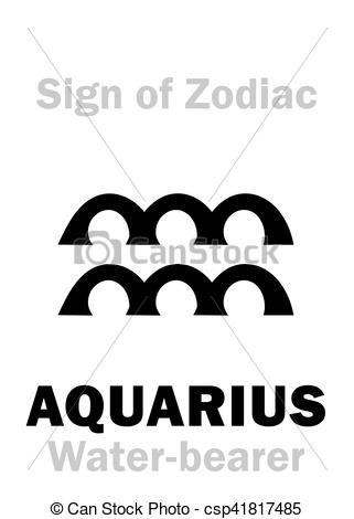Zodiac Sign clipart water bearer (The Water Astrology: AQUARIUS (The