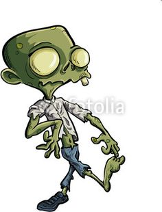 Zombie clipart animated With  Review: Mikey Cartoon