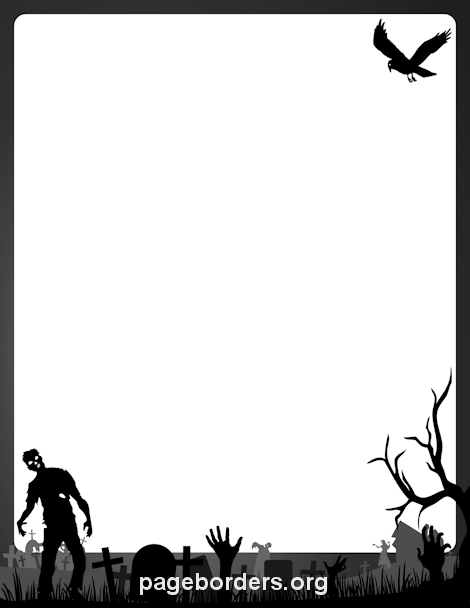 Zombie clipart border The creating Microsoft zombie in