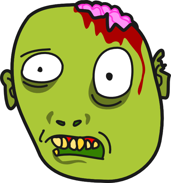 Zombie clipart cartoon Zombie a holding face Pictures