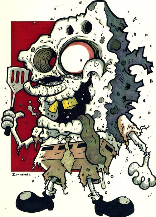 Zombie clipart cartoon character Zombie 23 SpongeBob As Awesome