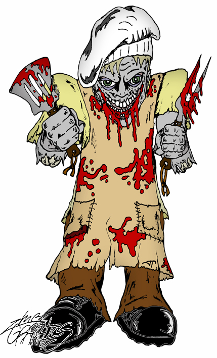 Zombie clipart chef Zombie by chef Zombie by
