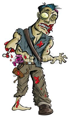 Zombie clipart comic person Tattoo Search for  cartoon