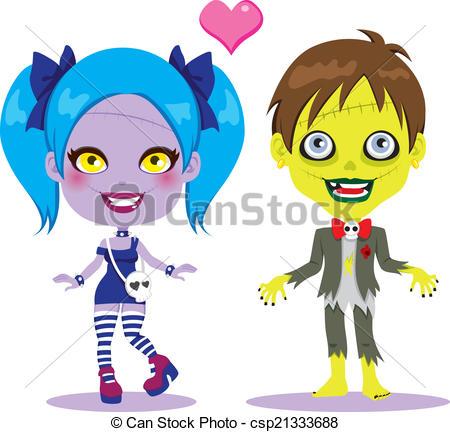 Zombie clipart cute Love Vector Love Vector zombie