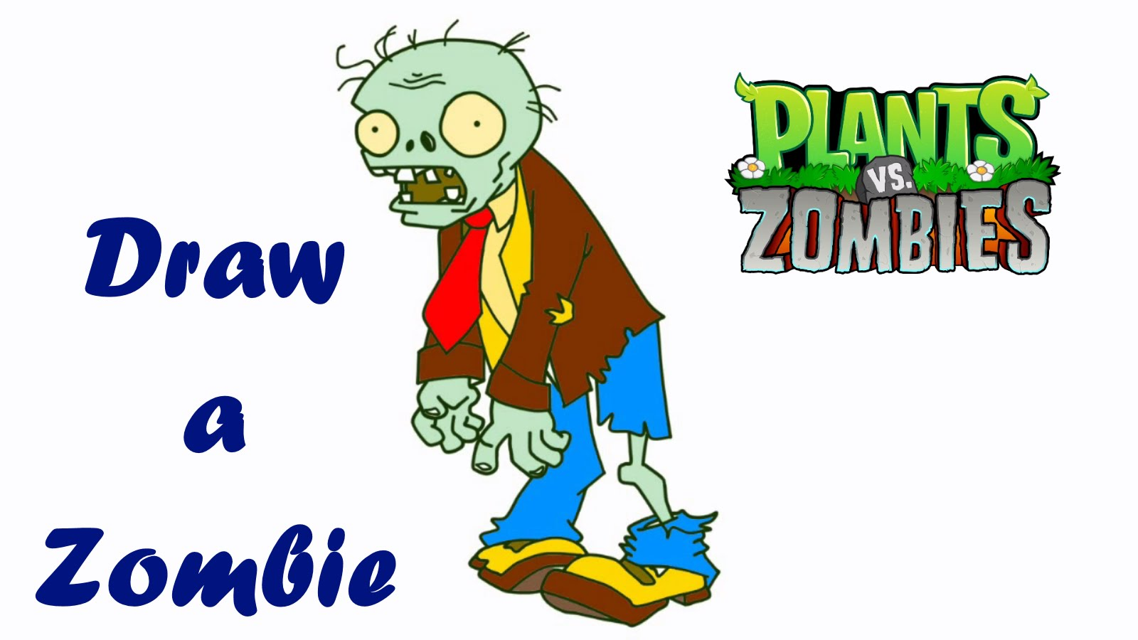 Zombie clipart easy Zombie draw drawing Easy Plants
