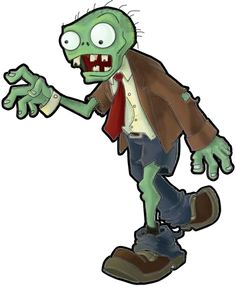 Zombie clipart easy Zombies Plants To step drawing