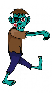 Zombie clipart easy Draw How a How Step