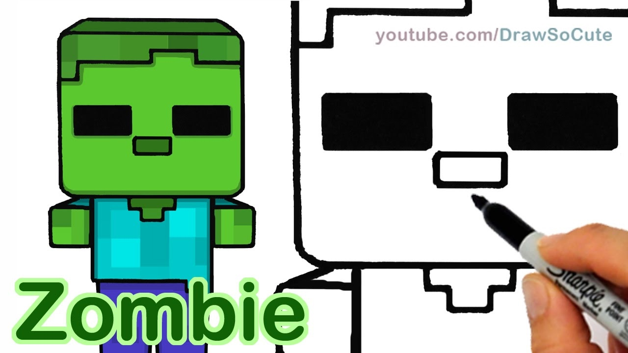 Zombie clipart easy Easy  Cute step 109