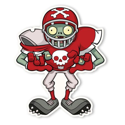 Zombie clipart football Zombies: Zombie Plants Walls Football