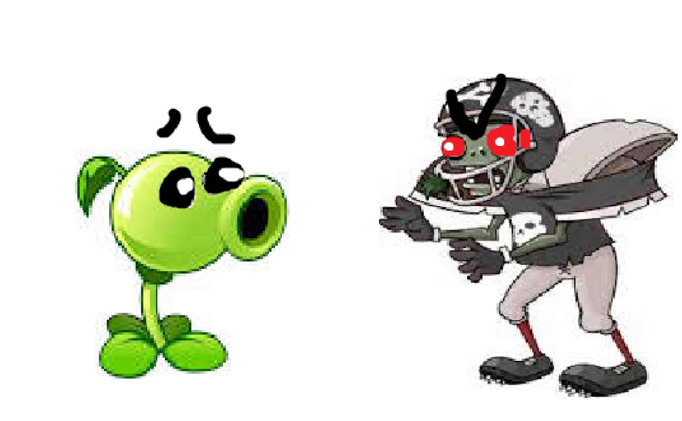 Zombie clipart football Black/Giga VS Black/Giga peashooter and