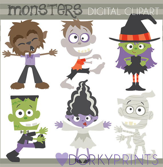 Zombie clipart frankenstein And Witch Monsters Mummy Clipart