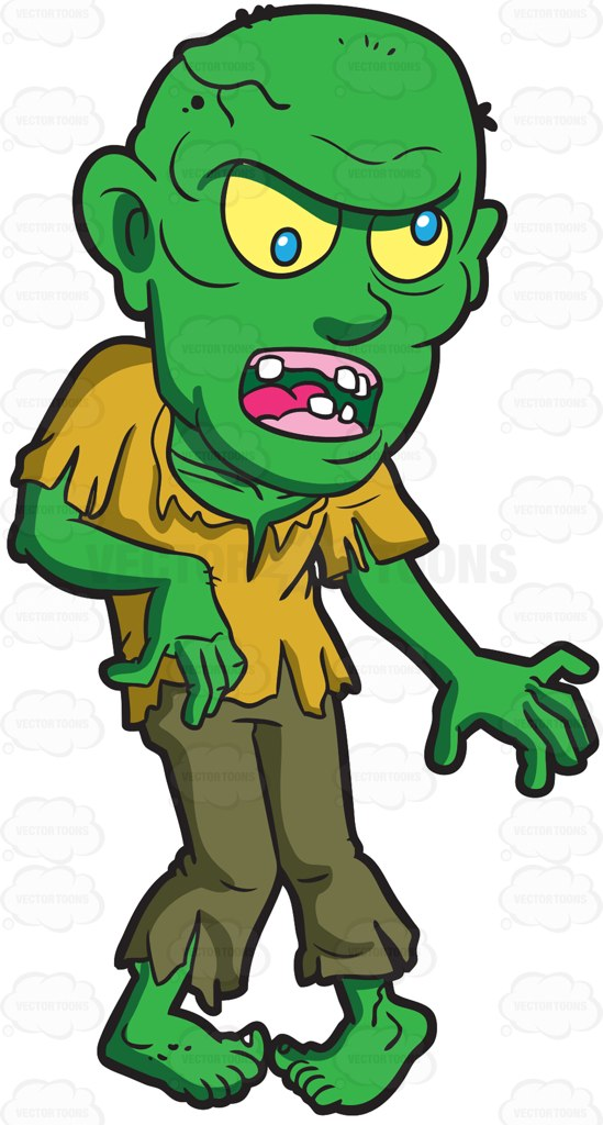 Zombie clipart green Zombie Green Zombie Bald A