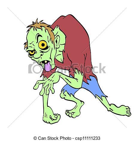 Zombie clipart halloween monster Of Monster a Stock Halloween