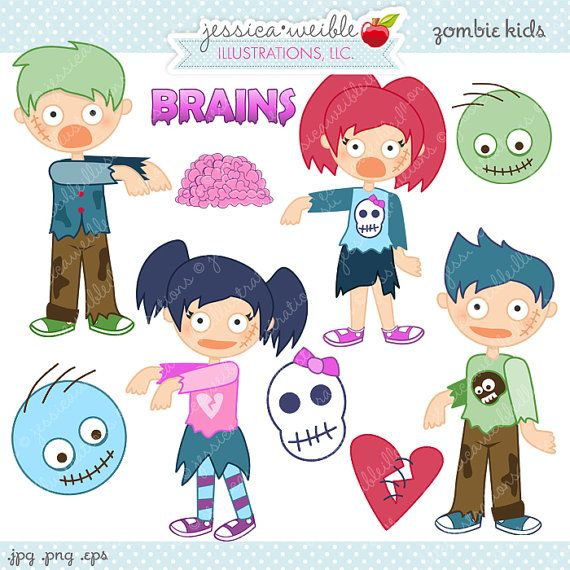 Zombie clipart halloween monster Zombie Use Clipart vector Pinterest