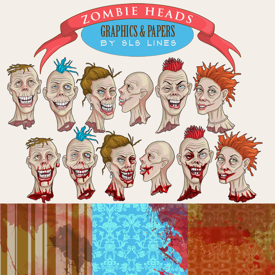 Zombie clipart halloween monster Clipart file This digital zombies