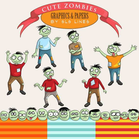 Zombie clipart halloween monster Clipart Clip Monsters files Free