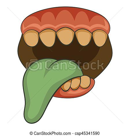 Zombie clipart mouth #8
