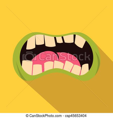 Zombie clipart mouth #13