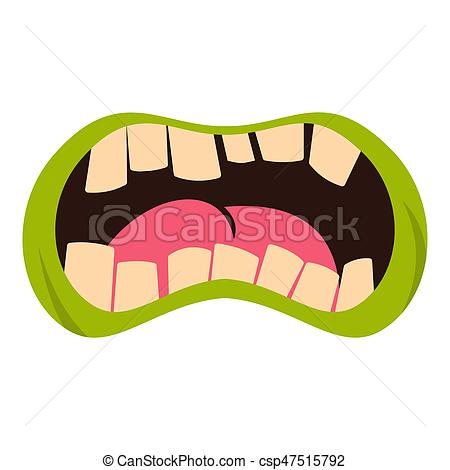 Zombie clipart mouth #9